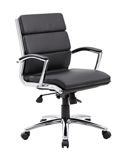 Boss Office Products Executive Mid Back CaressoftPlus Chair with...