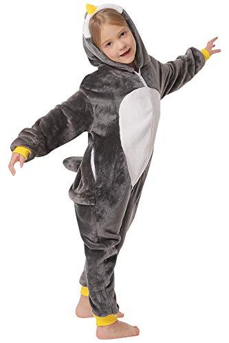corimori 1851 Pablo der Pinguin Kinder Jungen Mädchen Onesie Jumpsuit Anzug Kostüm Verkleidung (Gr. 90-110 cm), Schwarz