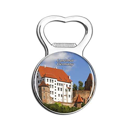 Weekino Landshut Trausnitz Schloss Deutschland Bier Flaschenöffner Kühlschrank Magnet Metall Souvenir Reise Gift