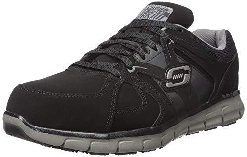 Skechers for Work Men's Synergy Ekron Walking Shoe,Black Charcoal,11 M US
