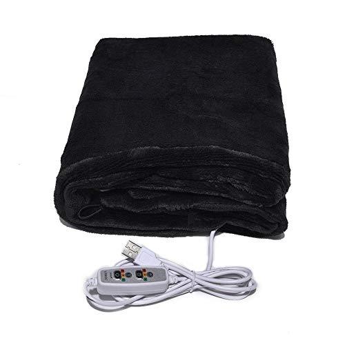 Beesuya USB Beheizter Schal, Dreistufige Temperatureinstellung Kann Zeitgesteuert Werden Elektrische Heizdecke Für Büro Und Sofa
