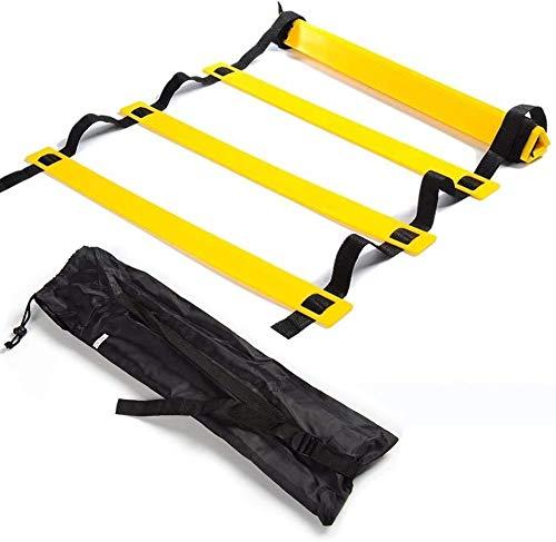 Escalera de coordinación deportiva, 12 Rung, 6 metros, fuerza de pierna, aceleración, velocidad básica, equilibrio y control corporal