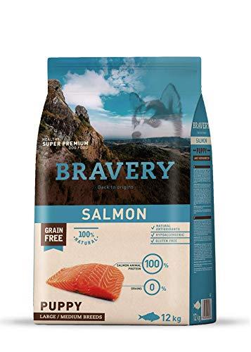 Bravery Puppy Salmone Medium/Large 12 kg - Crocchette per Cucciolo
