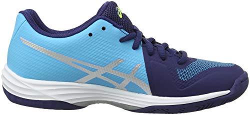 ASICS Damen Gel-Tactic Volleyballschuhe, Blau (Indigo Blue/Silver 400), 39 EU - 6