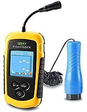 LUCKY Buscador de Peces portátil Dispositivo Detector de Peces Buscador de Profundidad de Mano para Barco Kayak Canoa Pontón Jon Barco Jet ski Tubos de flotación sonda para Pesca en Hielo