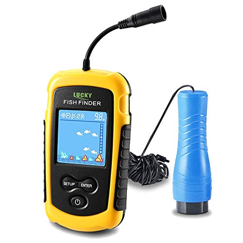 LUCKY Small Portable Fish Finder Kayak Sonar Handheld Fish Finders Ice...