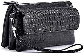 Large-capacity handbag multifunction Clutch Zipper wallet crossbody bag clutch for women Q88 black