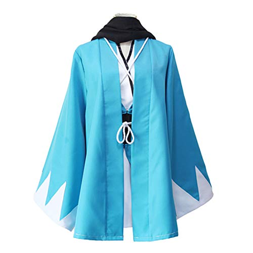 ULLAA 7PCS Fate Grand Order FGO Sakura Saber Okita Souji Disfraz de Cosplay Kimono japons Trajes de Vestido Yukata con Accesorios Ropa de Carnaval de Halloween