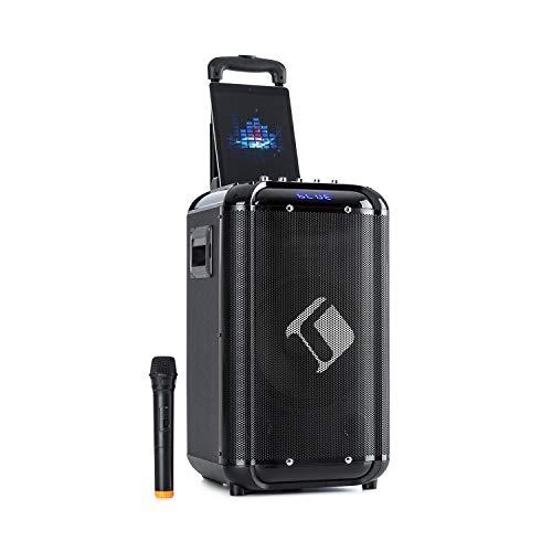 AUNA Moving - Impianto PA, Sistema Karaoke, Supporto Smartphone, Microfono UHF Wireless, Tecnologia XMR-Bass: Woofer da 10  (25,4 cm), Tweeter da 3 , 50W Potenza Nominale, 150W, Nero