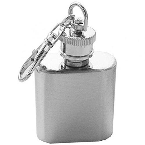 giveyoulucky 1 oz Mini bolsillo botella de vino de acero inoxidable whisky licor petaca tapón de rosca