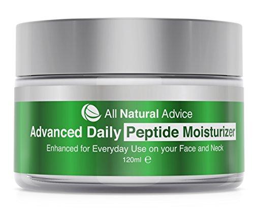 Tägliche Feuchtigkeitspflege mit Peptiden und Hyaluronsäure von All Natural Advice | Vegan | Biologisch | Anti-Aging | 120 ml