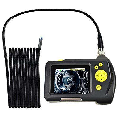 Neues Design Mehrsprachig 6 einstellbare High-Intensity-LEDs IP67 8.2mm Digital Wasserdicht Handheld Endoskop Digital Inspektion Kamerasystem 2.7 Zoll Bildschirm Monitor (END-23_8.2mm_5M)