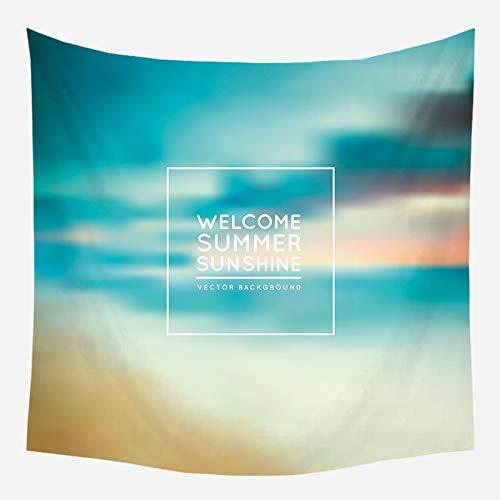 Sonne Meer Wandteppich Ozean Strand Wandbehang Wasser Landschaft Stranddekoration Wandtuch blaue Wolke blau Schaum Hintergr& Tuch a1 150x200cm