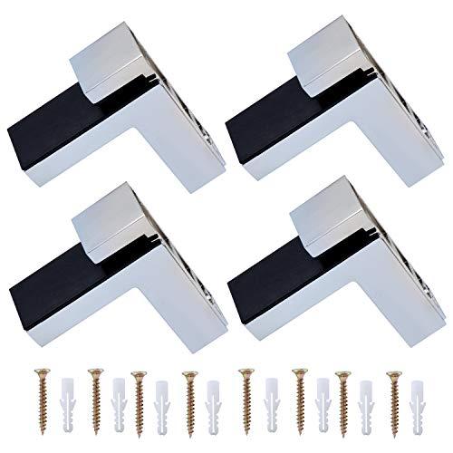 Coolty 4 Stück Regalbodenhalter, RegalHalter Glasbodenträger für 5-30mm Dicke Glas und Holz Regal