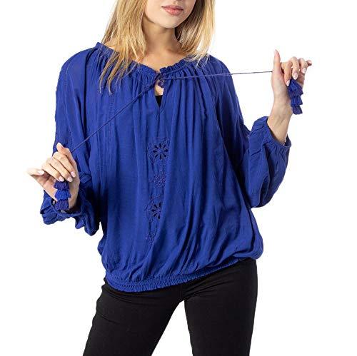 Desigual Blus_Venecia, Azul (Azul Imperial 5115), Medium para Mujer