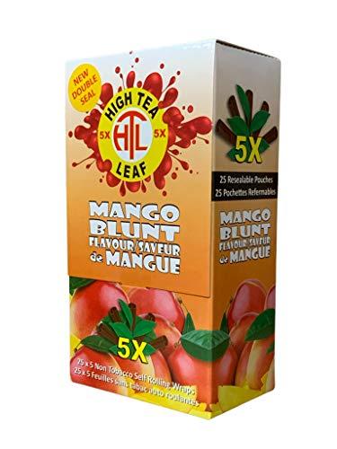 High Tea Leaf Hemp Wraps – Mango – 25 Pack Box (5 in each pack) 125 Wraps Total