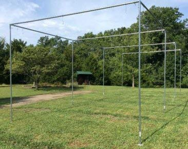 Batting Cage Frame Kit 12' x 12' x 55' EZ UP & Down Baseball Softball Frame Kit