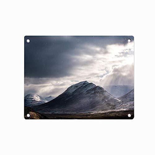 Berge Wolken Felsen Schnee Sonnenuntergang personalisierte Blechschild Metallwand Zeichen Halle Garage Poster Blechschild 12 X 8 Zoll