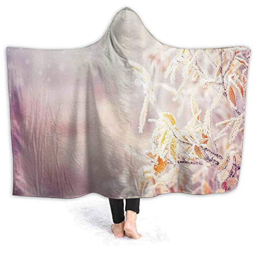 Xarchy Wearable Blanket Hoodie-Plush Warm Blanket Tree in Field with Stars Fluffy Blankets for Bed Couch Travel, Throw Blankets 60W by 50H inches (with Hooded)
