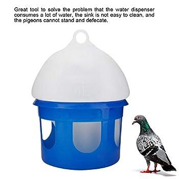 Felenny Mangeoire à Pigeons Automatique Grande Capacité Mangeoire à Pigeons pour Oiseaux Distributeur d'eau Abreuvoir pour Oiseaux