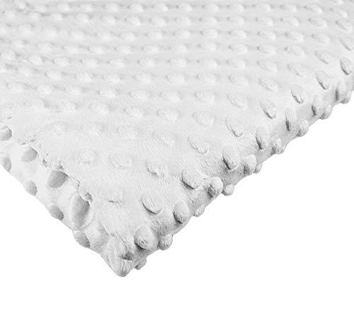 Tukan-tex (6,98€/m) Polyester Meterware Stoff Plüschstoff 50x160cm | Minky | Flauschiger Kinderstoff Fleece (Weiß 3033)