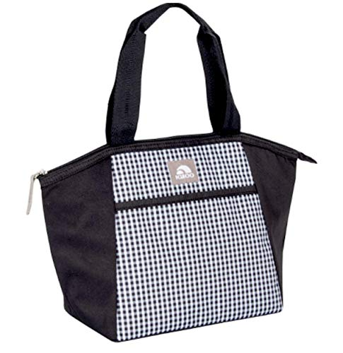 Black & White insulated Lunch bag, lunch box Essential Tote Cooler 8 can