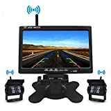 12V/24V Wireless Vehicle 2 x Backup Cameras Parking Assistance System Ir Night Vision