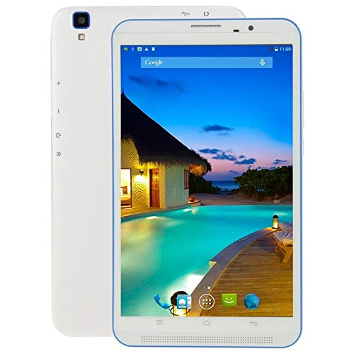 YANTAIAN I801 Tablet PC 16GB, 8 inch Android 4.4.2, MT6582 Quad Core 1.3GHz, RAM: 1GB, Dual SIM(White) (Color : White)