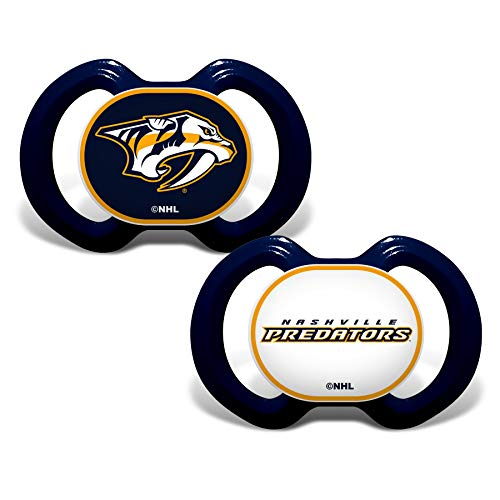 Baby Fanatic NHL Legacy Infant Pacifiers, Nashville Predators, 2 Pack