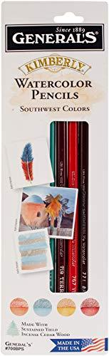 General Pencil Kimberly Watercolor Pencils 4/Pkg Southwest
