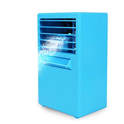 JiaMeng Humidificador evaporativo del refrigerador del circulador de Aire del Ventilador del Aire Acondicionado Mini para Mesa, Cochecito de bebé, Cama, Camping, Coche, Oficina, Casa y Aire Libre