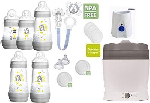 MAM primamma Set 6 - Startset - MAM Flaschen Sauger primamma Vaporisator Babykostwärmer 20 teilig - Neutral