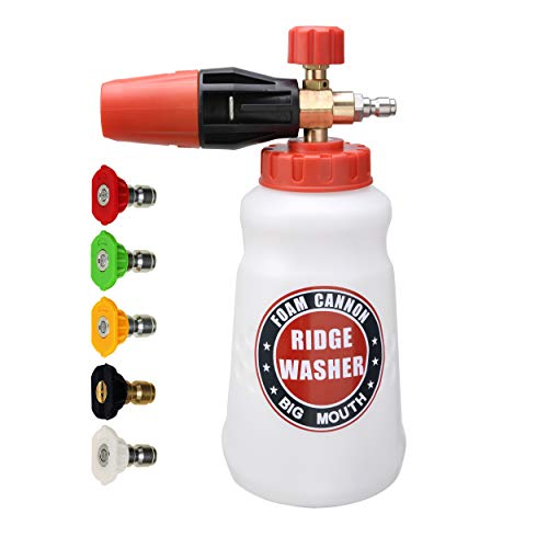 Cheapest Price! RIDGE WASHER Foam Cannon for Pressure Washer, Wide Nick Bottle, Power Washer Snow Fo...