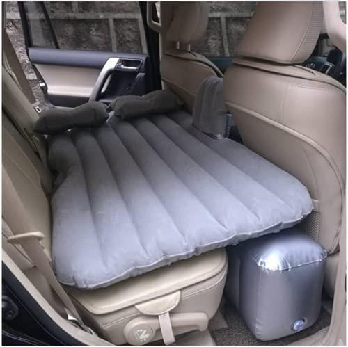 YEPLINS - Asiento de cama inflable para coche, colchón de aire, cama de acampada para coche, colchón de dormir de coche, Suv con flocado y PVC para el hogar, camping al aire libre, viajes