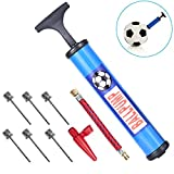"10"" Inflating Ball Pump Air Pump with 6 Pcs Needles and 1 Pcs Valve Adapter 1 Pcs Air Hose for Football Soccer Basketball Volleyball Rugby Balloons and Other Inflatable"