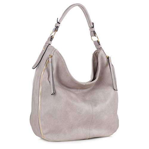 SG SUGU Hobo Shoulder Bags for Women Tote Handbags Fashion Large Capacity Ladies | Sand