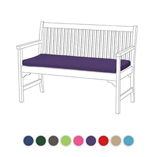 Coussin pour banc de jardin Violet Lightweight. et confortable, idéal pour l'intérieur et l'extérieur, Matériau de qualité résistant à l'eau.