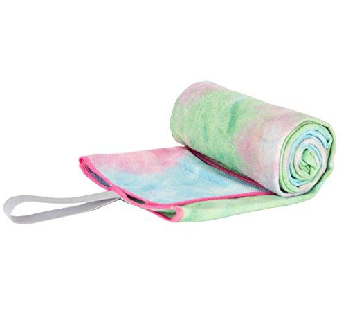 Limber Stretch Yoga Mat towel - Microfiber Bikram Hot Yoga Towel - Non Slip...