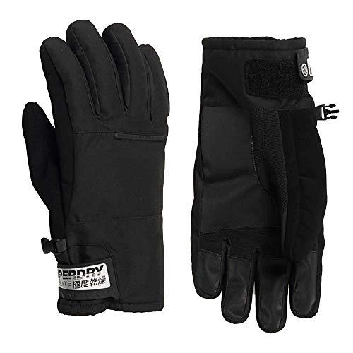 Superdry Assassin Handschuhe für Herren, Schneezubehör M Stealth Black