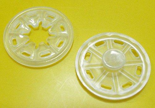 Großhandel für Schneiderbedarf 10 Druckknöpfe zum Annähen Kunststoff 25 mm transparent