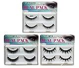 Beautia 3 Pack(6 Pairs) Dual Fake Eyelashes with Seperate Adhesives,B3DFLASH01 (B3DFLASH01)