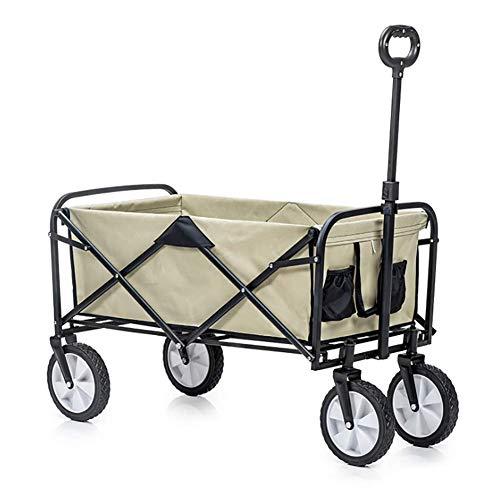 XIAOFEI Trolley Plegable Al Aire Libre, Trolley Plegable VagóN Utilitario con Gran Capacidad Trolley De Picnic PortáTil para Acampar Trolley Liviano con Longitud Ajustable