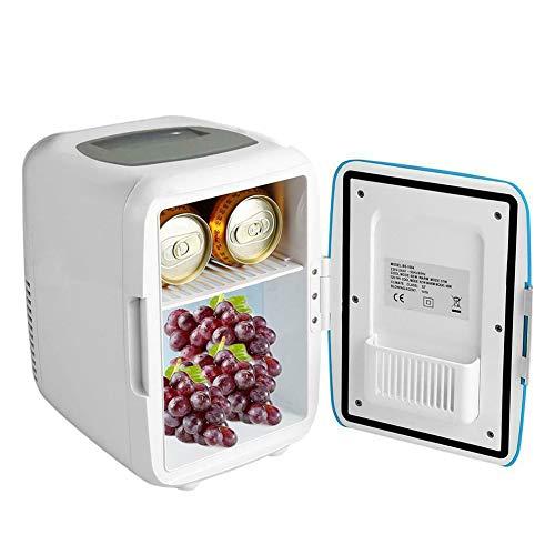 DirkFigge Mini Kühlschrank, 4L Mini Auto Kühlschrank Reise Gefrierschrank Tragbare Camping Fahren Kleine Kühlschrank Bier Getränk Kosmetik