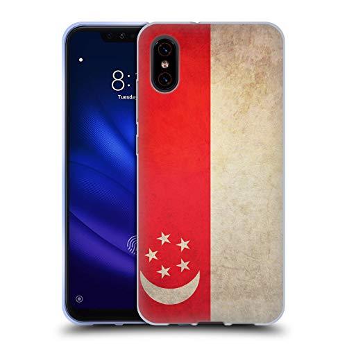 Head Case Designs Singapur De Singapur Banderas Vintage Carcasa de Gel de Silicona Compatible con Xiaomi Mi 8 Pro