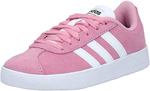 Adidas VL Court 2.0 K, Zapatillas de Deporte Unisex Adulto, Multicolor (Rosaut/Ftwbla/Negbás 000), 38 2/3 EU