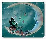 Alfombrilla de ratón Moon, Elf con alas Toonimal Faeire Pixie...