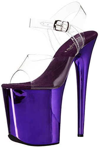 Pleaser Women's Flam808/C/Ppch Platform Dress Sandal,...