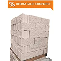 Amagard Bloques de hormigón Hueco Split Crema 40 x 20 x 20cm. Pallet Completo de 75 Piezas.