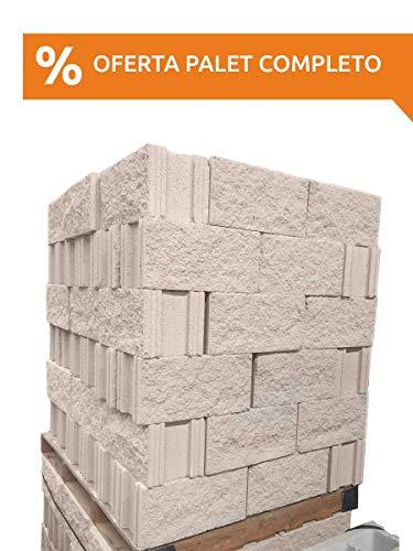 Amagard Bloques de hormigón Hueco Split Crema 40 x 20 x 20c