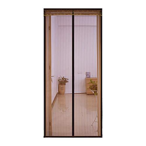 QDR Fliegengitter Tür Magnetisch Insektenschutz Balkontür, Fliegenvorhang Magnetvorhang Tür für Wohnzimmer Schiebetür, Kinderleichte Klebemontage Ohne Bohren,80x220cm(31x87inch)